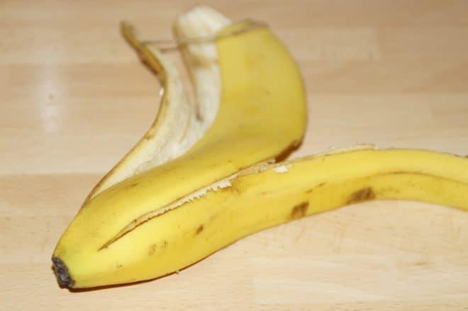 Illustration. Une peau de banane