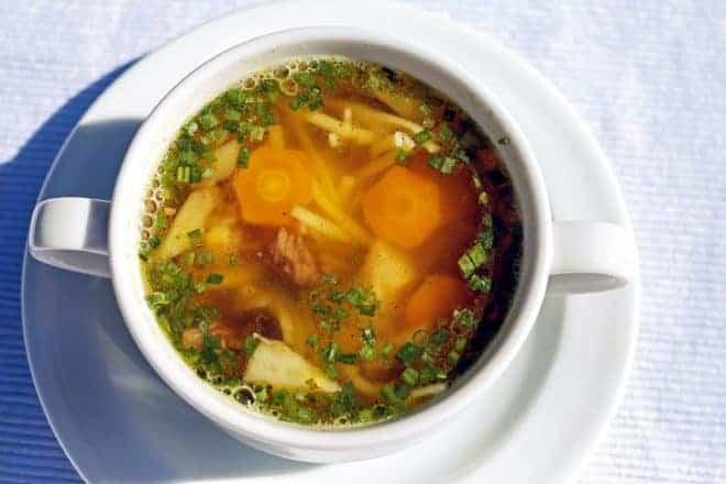 un bol de potage