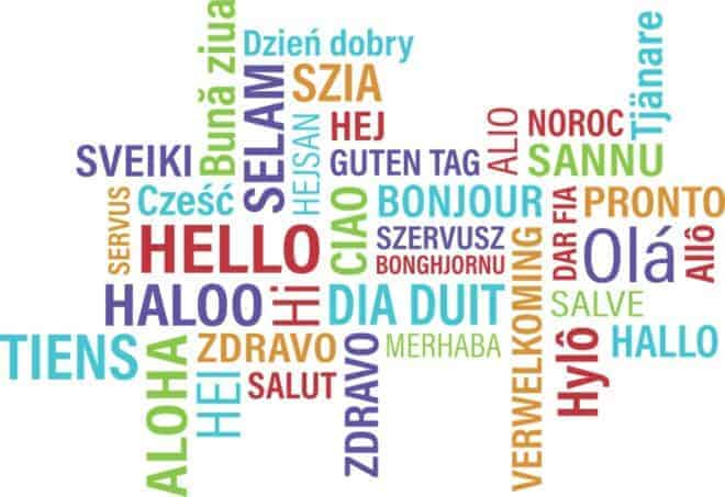 Dire bonjour en plusieurs langues.