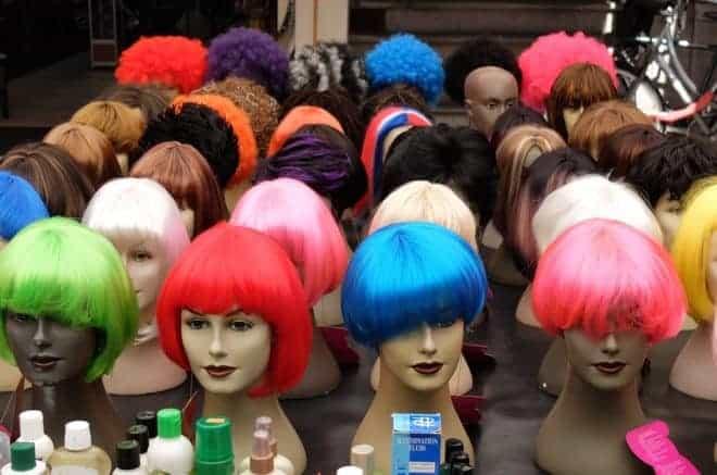 différentes perruques