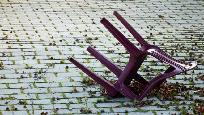Chaise de jardin.
