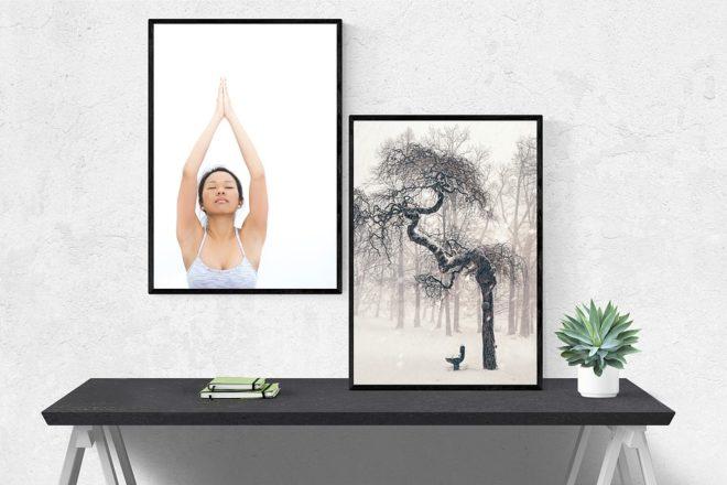 Tableau femme et tableau arbre