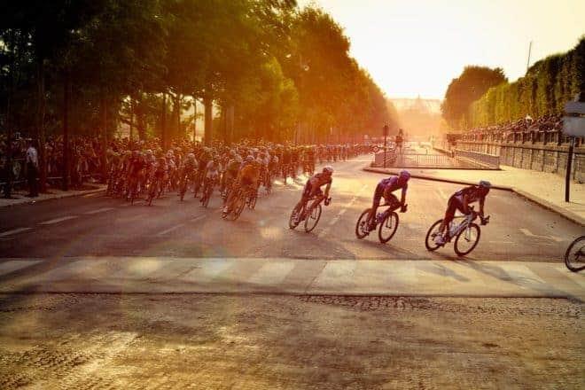 Cyclistes, course