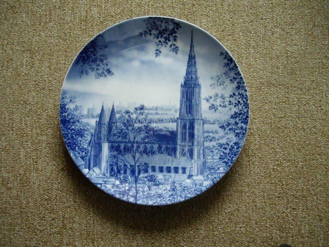 Décoration assiette en bleu