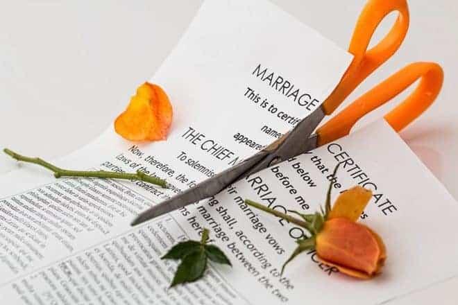 Le divorce.