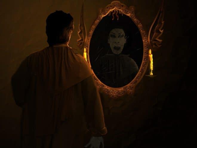 Dracula, mirroir