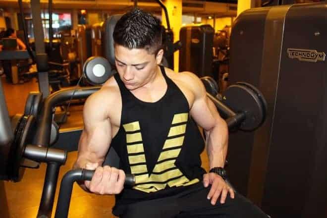 Exercice de musculation.