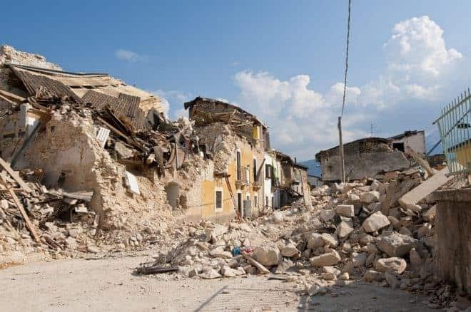 Maison effondrée