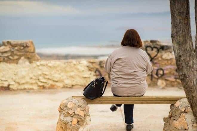 Femme, seule, plage