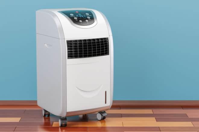 Un climatiseur mobile.
