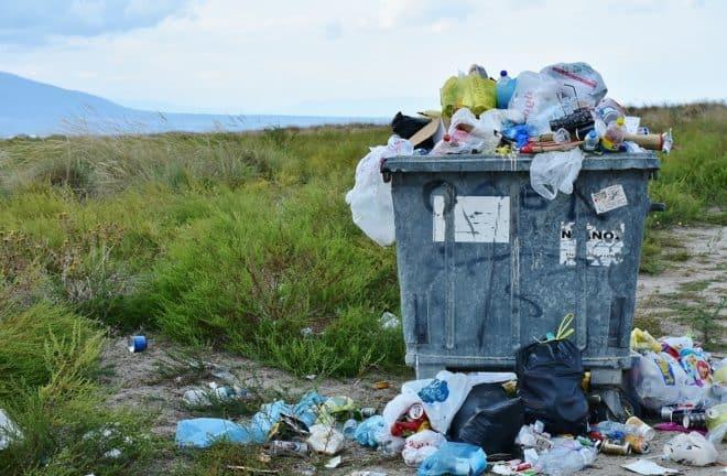 Conteneur à déchets, ordure,