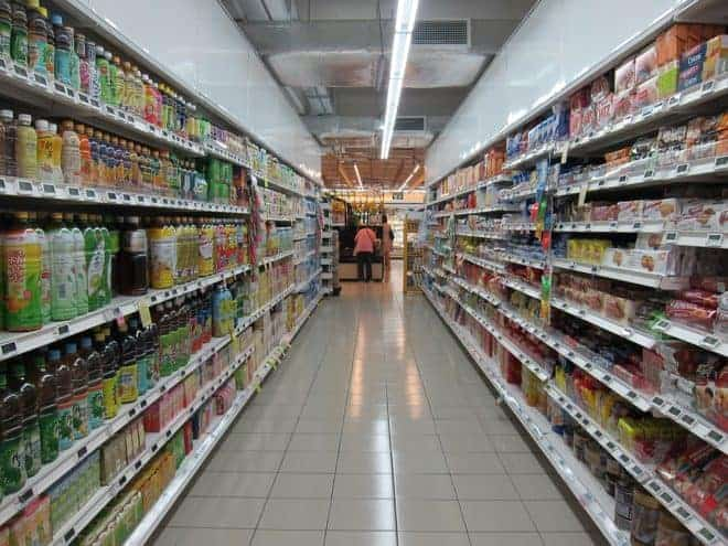 Rayon alimentation d'un supermarché