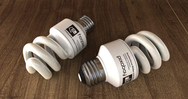 Des lampes fluorescentes.