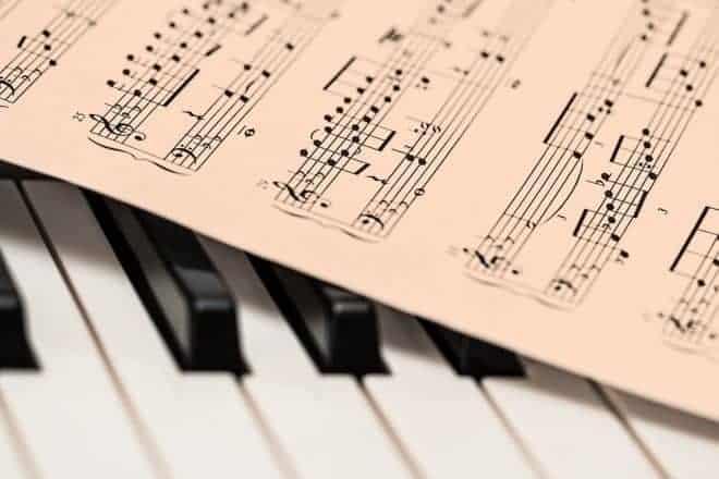 Piano, note de musique