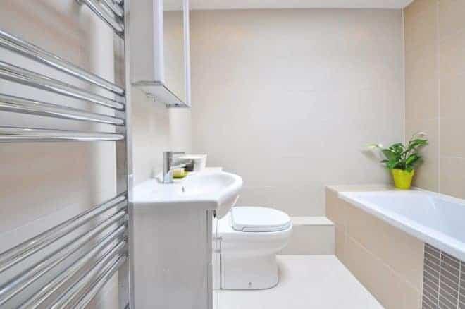 Illustration. Salle de bain, toilettes.