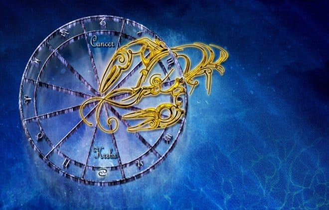 Le signe du zodiaque Cancer.